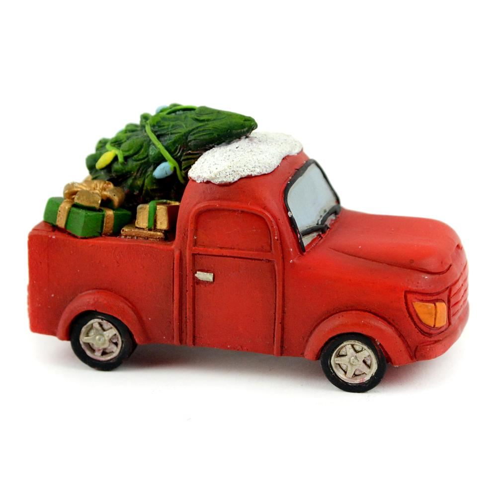Christmas Red Truck - MyFairyGardens.com