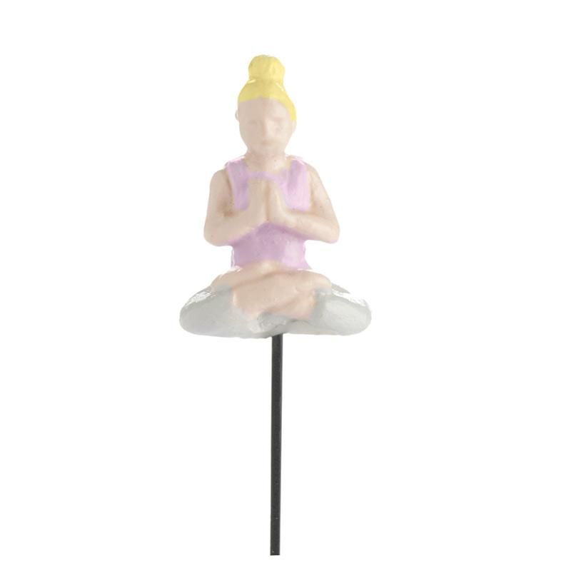 Micro Mini Yoga Gal - MyFairyGardens.com