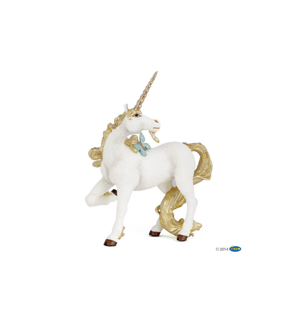 Golden Unicorn - MyFairyGardens.com