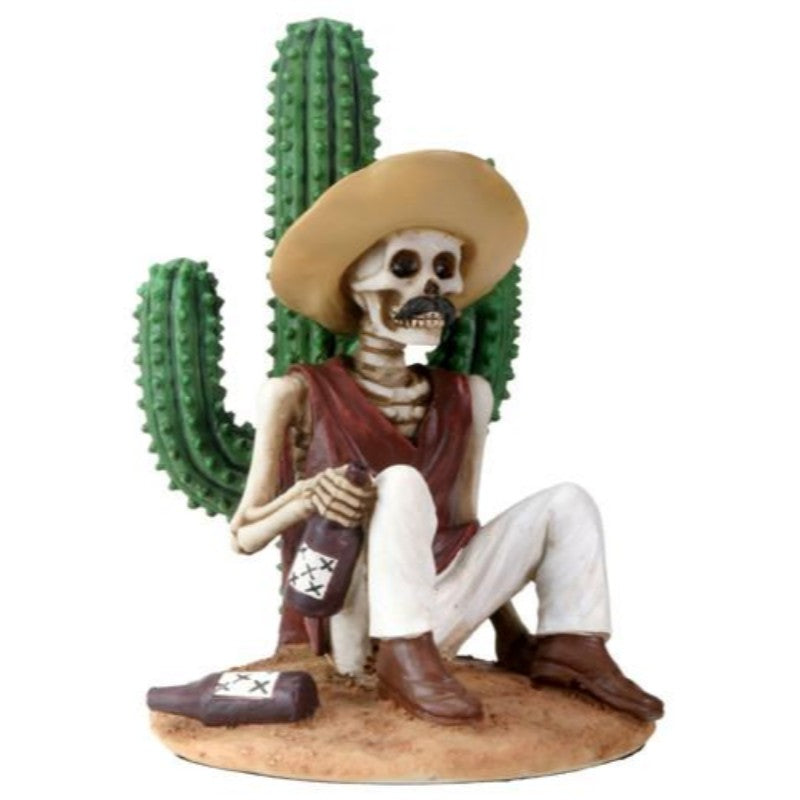 Day of the Dead - Boracho With Cactus - MyFairyGardens.com
