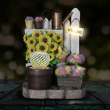 LED Fairy Planter With Sunflowers