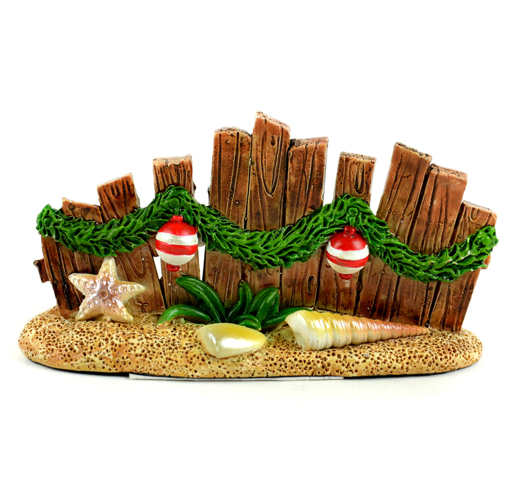 Beach Christmas Wood Fence - MyFairyGardens.com