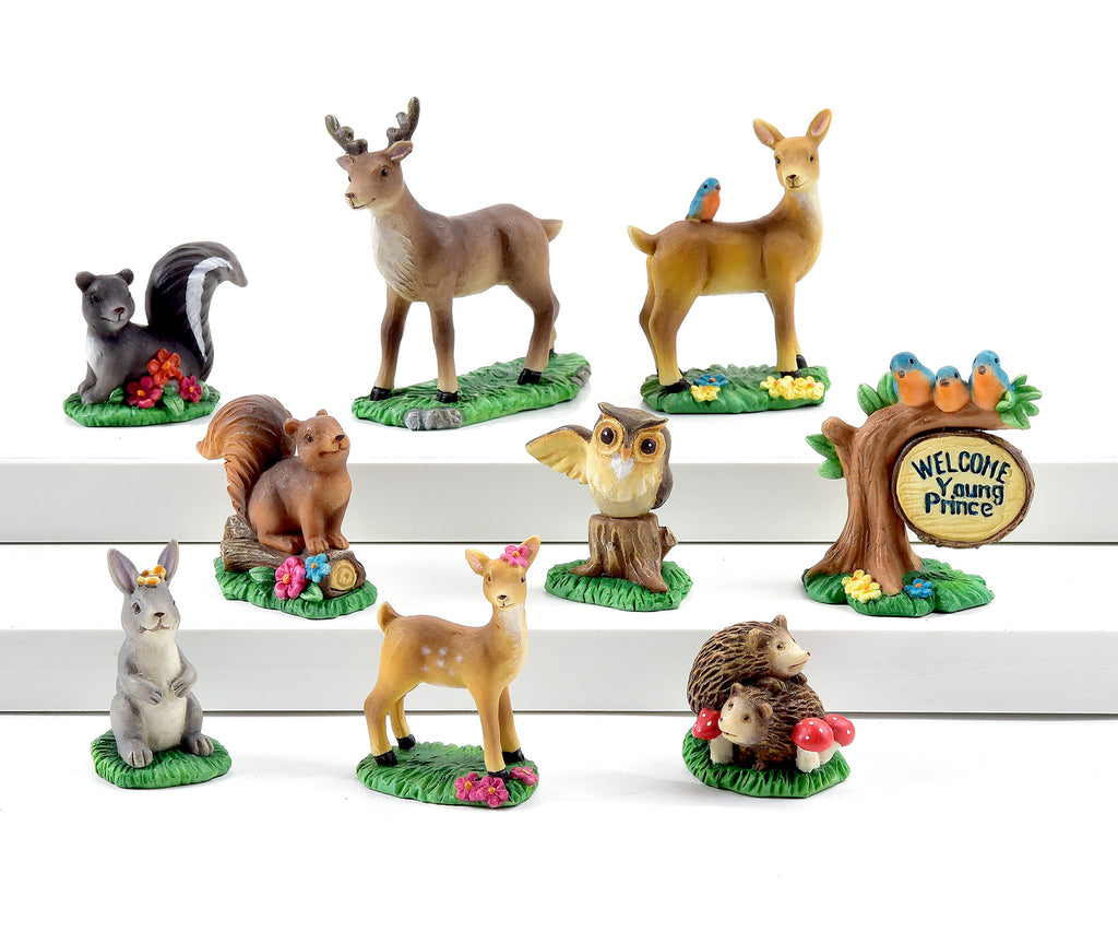 Bambi Mini Garden - Set of 10 - With or Without Display Base - MyFairyGardens.com