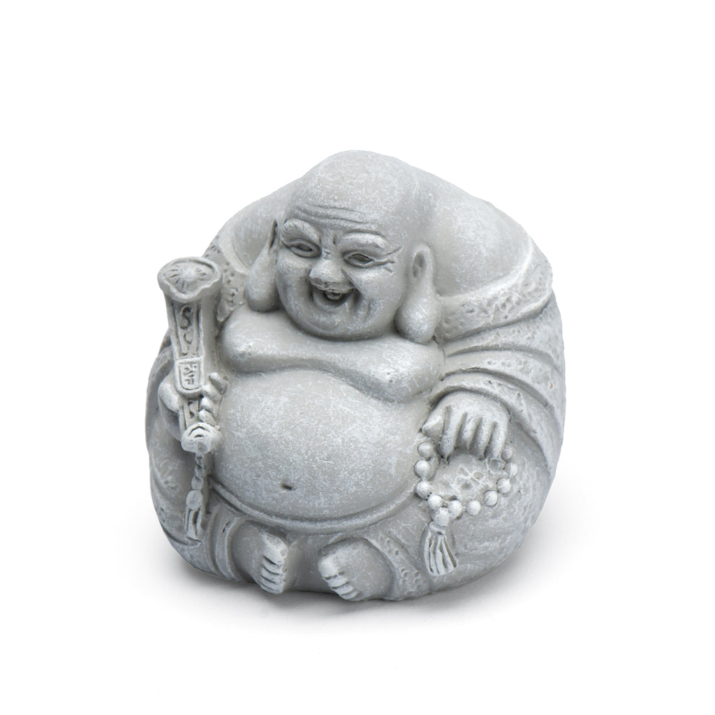 Laughing Buddha - Stone Finish - MyFairyGardens.com