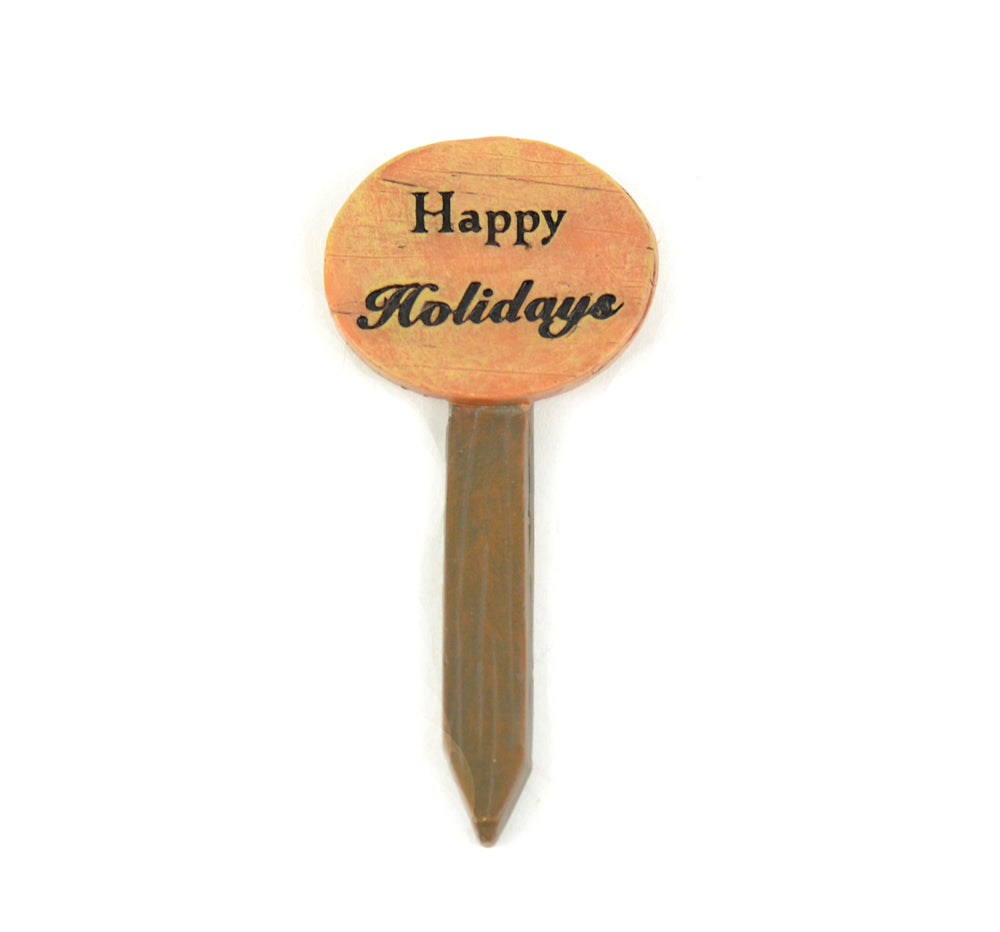 Happy Holidays Sign - MyFairyGardens.com