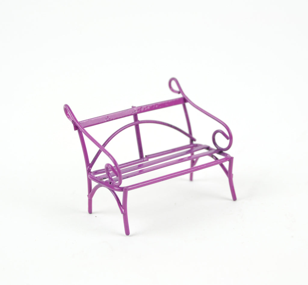 Micro Mini Raspberry Sorbet Bench - MyFairyGardens.com