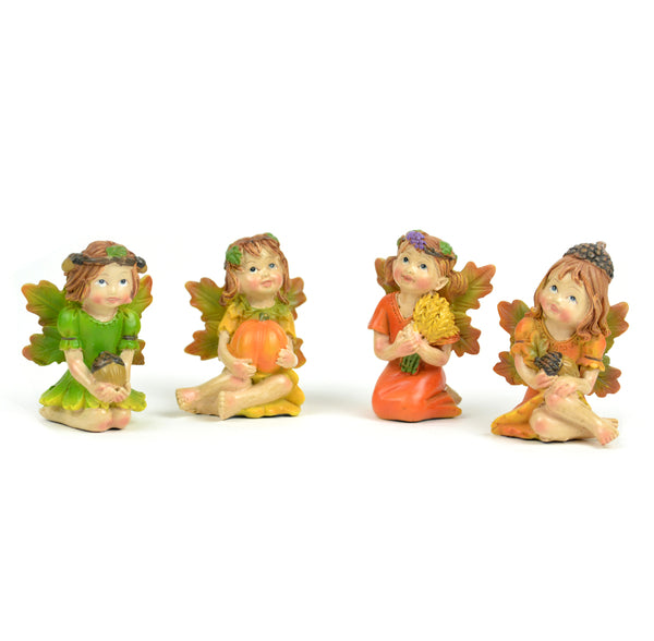 Fall Fairies - Set of 4 - MyFairyGardens.com