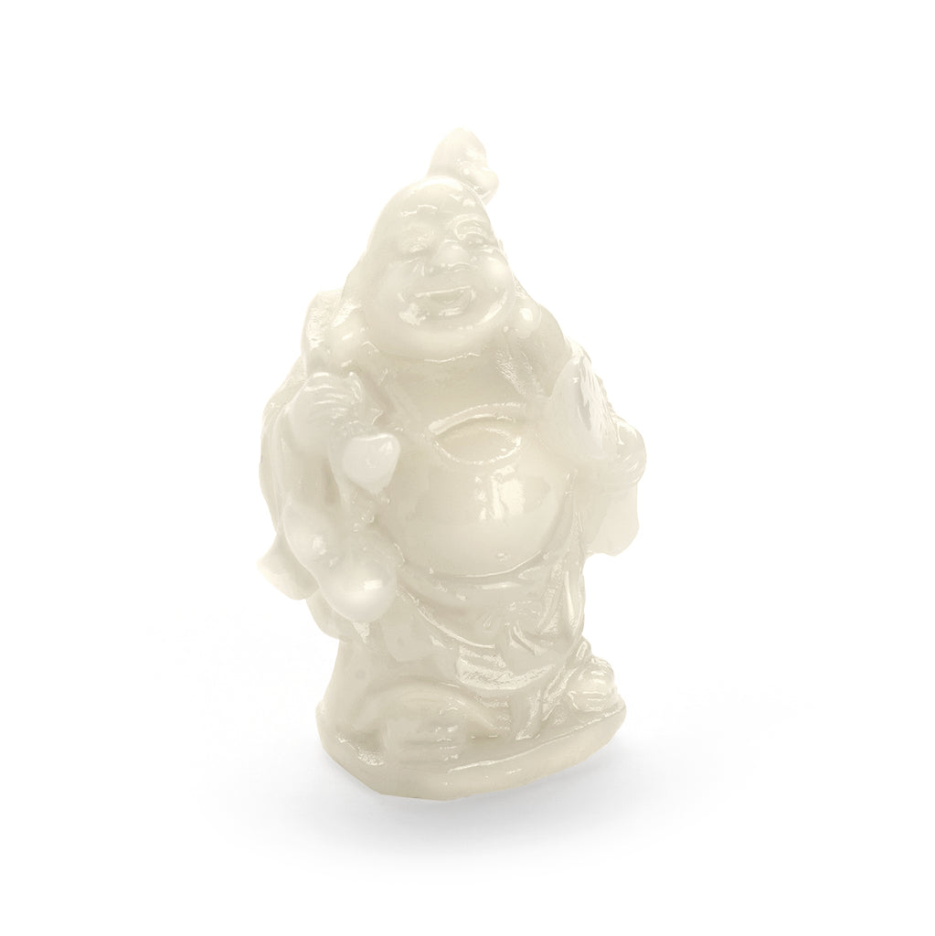 Laughing Buddha - Milk Jade - MyFairyGardens.com