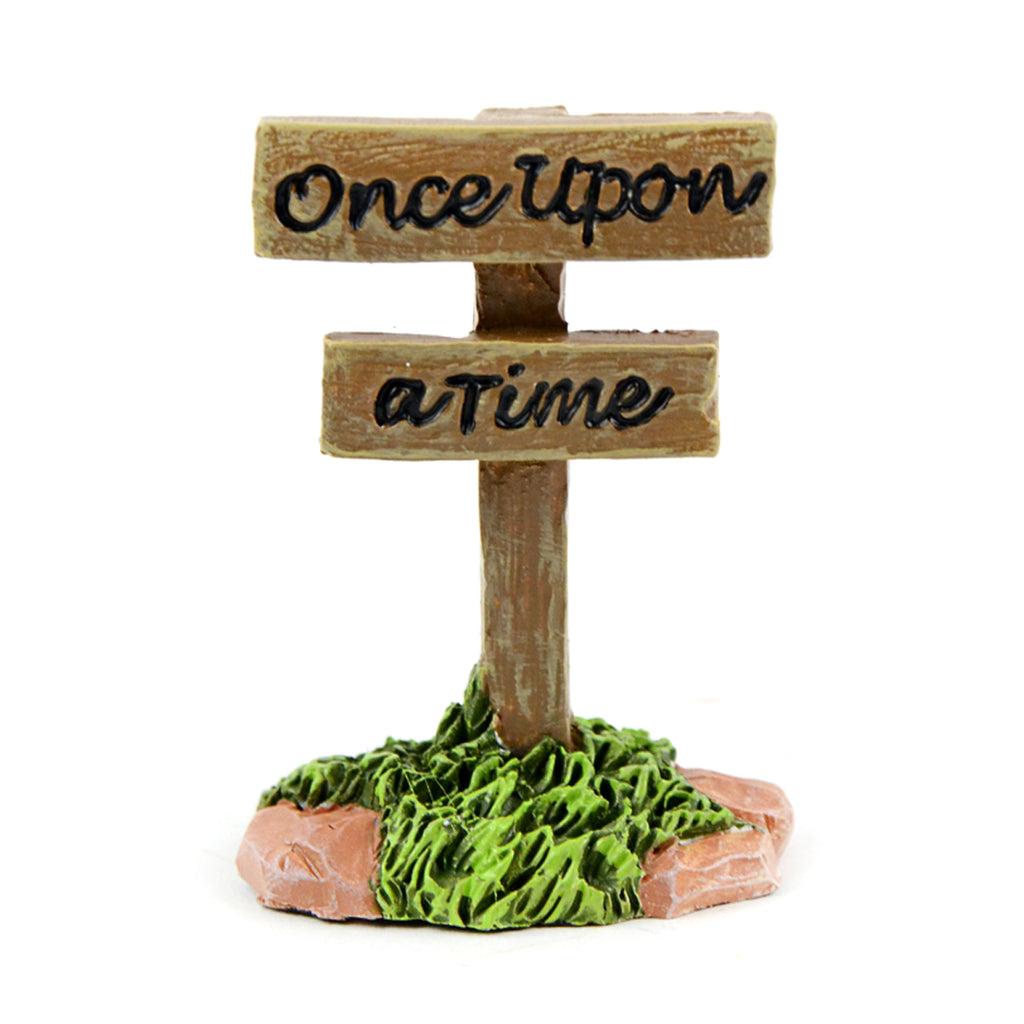 """Once Upon a Time"" Sign - MyFairyGardens.com"