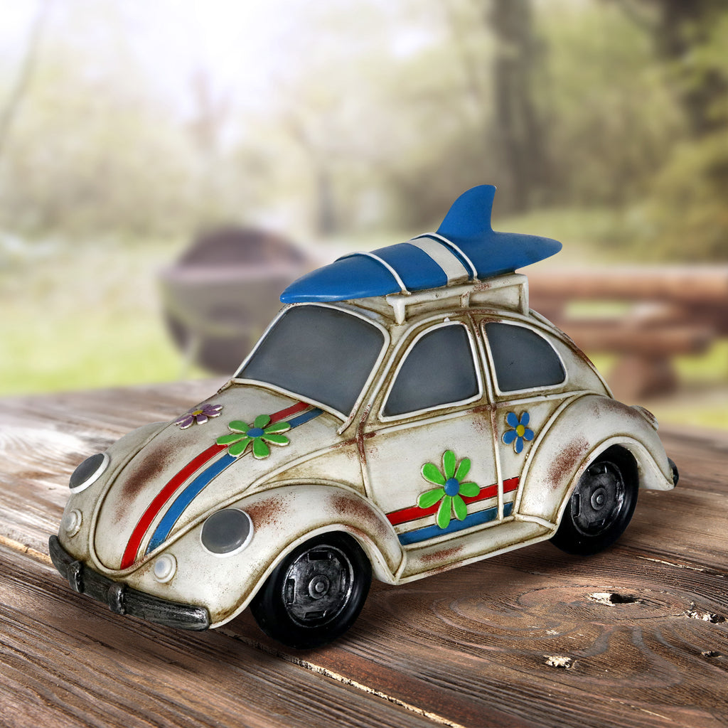 Solar Retro Bug - MyFairyGardens.com
