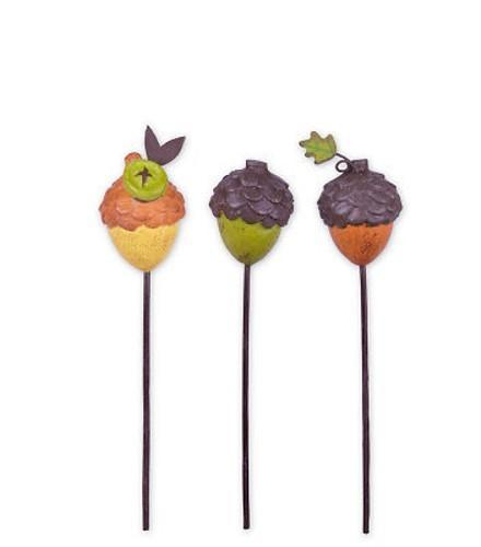Acorn Picks Set of 3 - MyFairyGardens.com