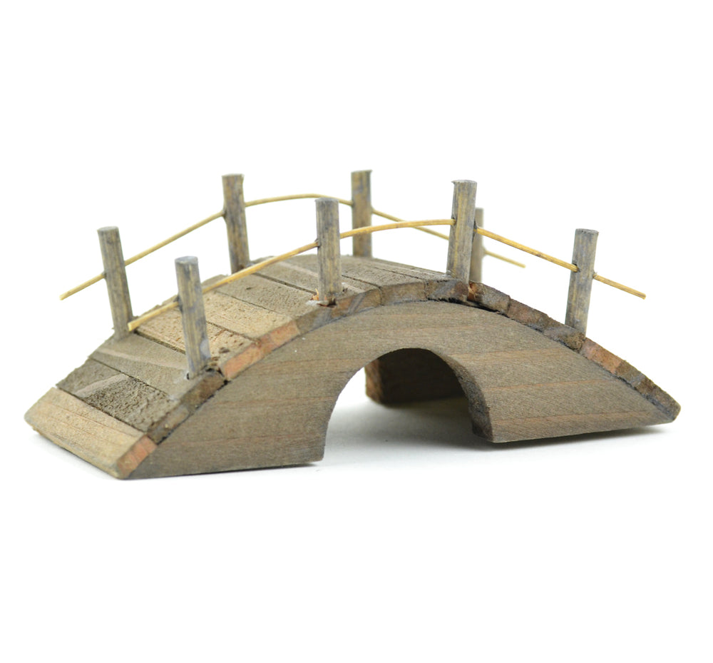 Mini Wooden Bridge Brown - MyFairyGardens.com