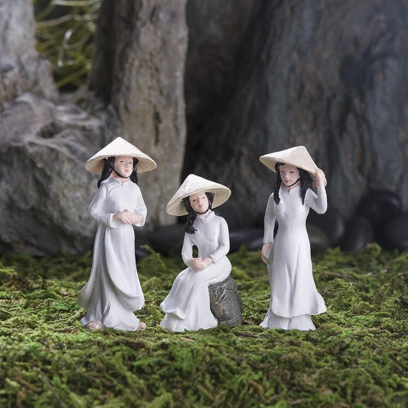 Ao Dai Girls - Set of 3 - MyFairyGardens.com