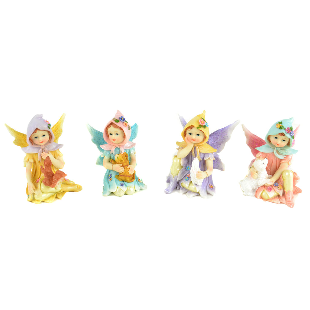 Caring Animal Fairies - Set of 4 - MyFairyGardens.com