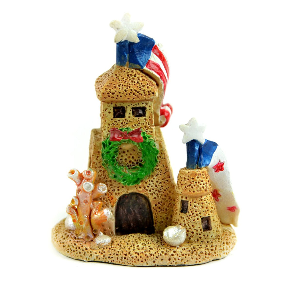Beach Christmas Sand Castle - MyFairyGardens.com