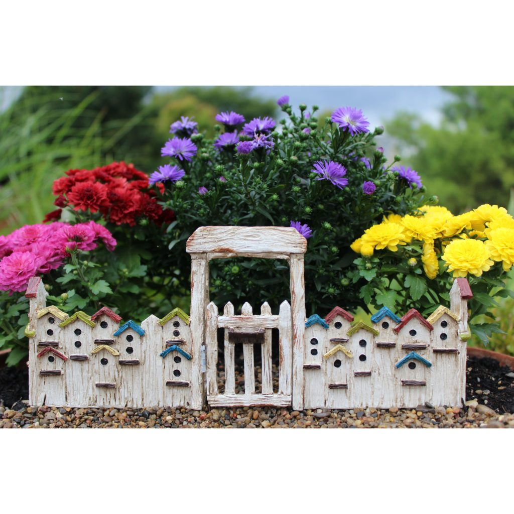 Birdhouse Gate - MyFairyGardens.com
