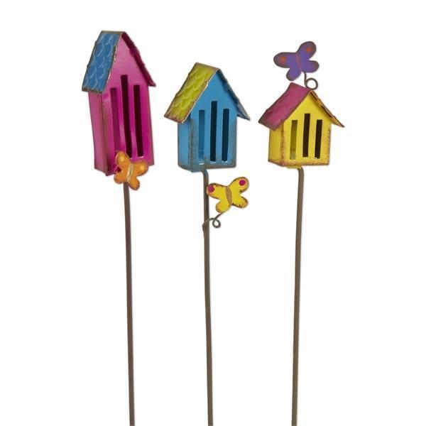 Butterfly House Picks - Set of 3 - MyFairyGardens.com