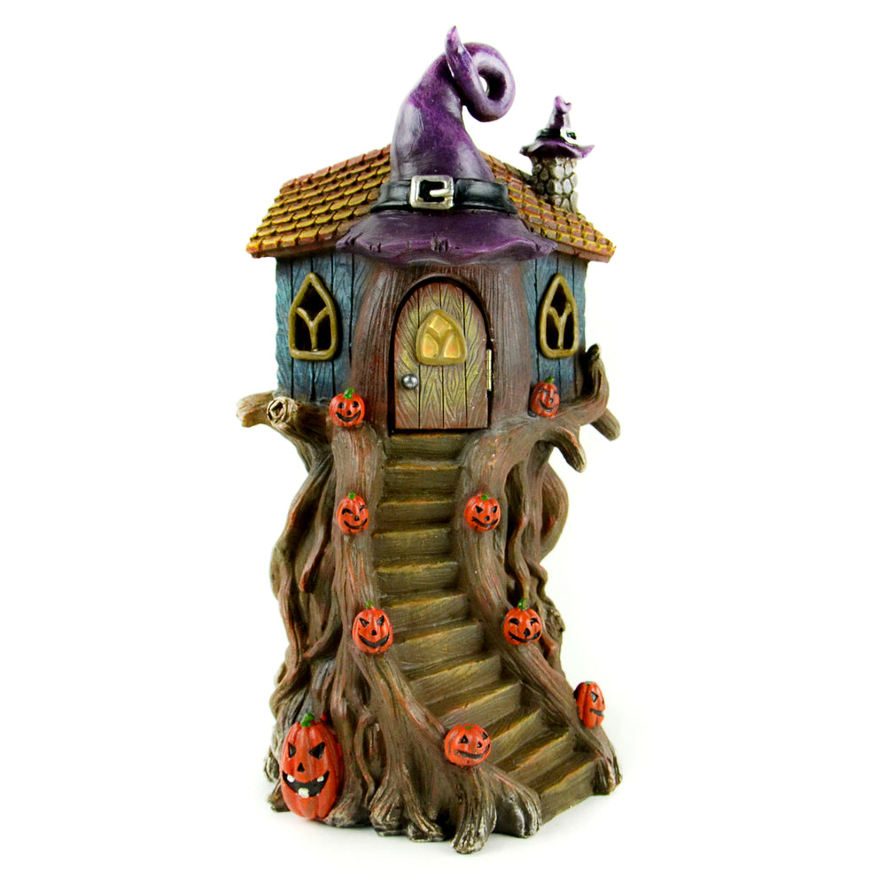Witch Hat Tree House - LED - MyFairyGardens.com