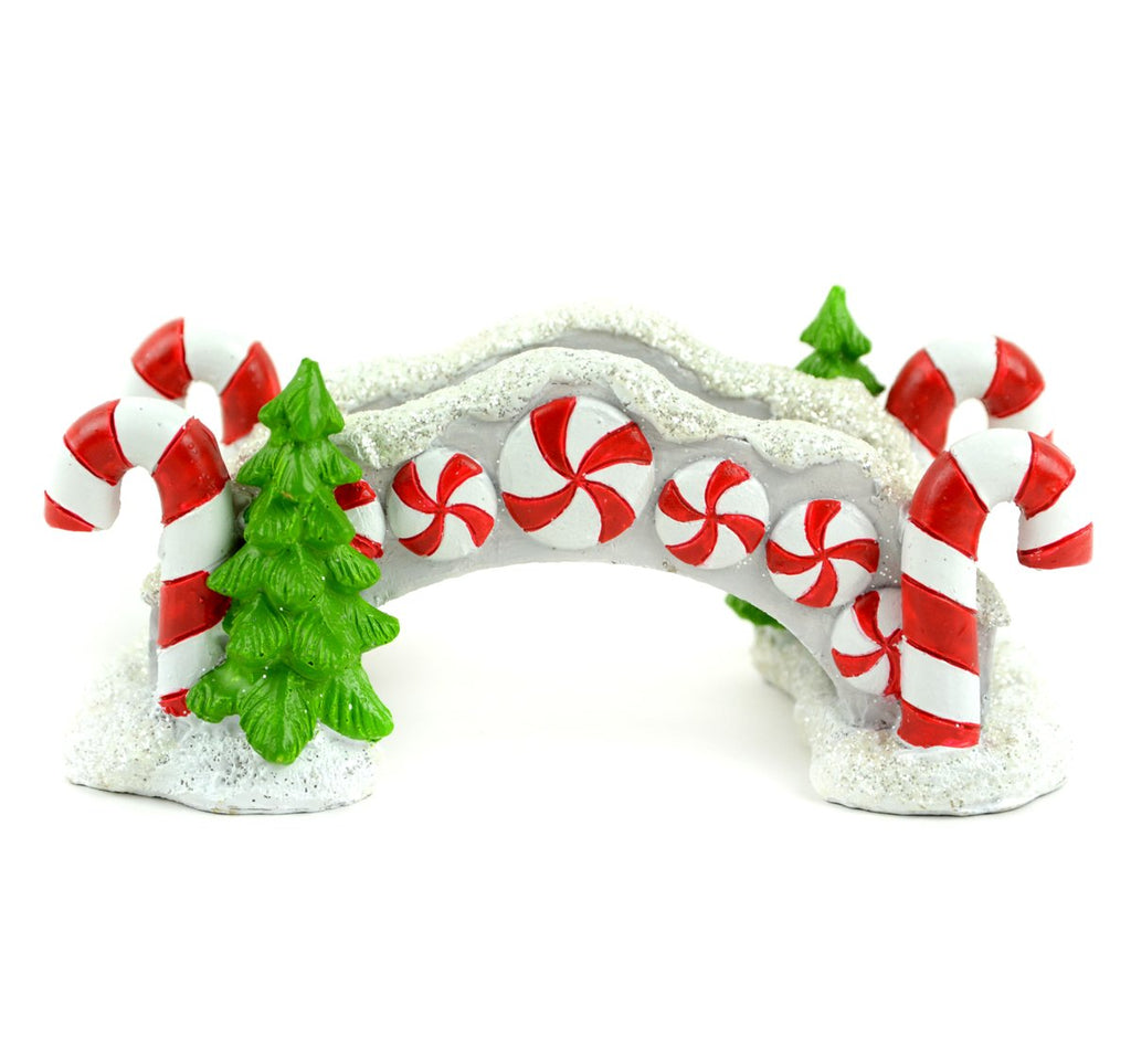 Candy Cane Bridge with Glitter - MyFairyGardens.com