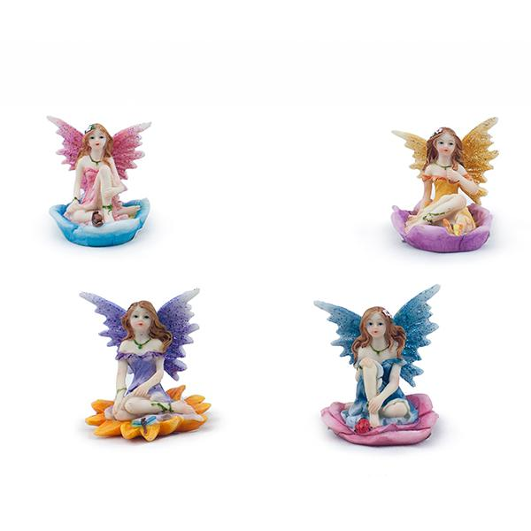 Mini Sitting Flower Fairies - Set of 4 - MyFairyGardens.com
