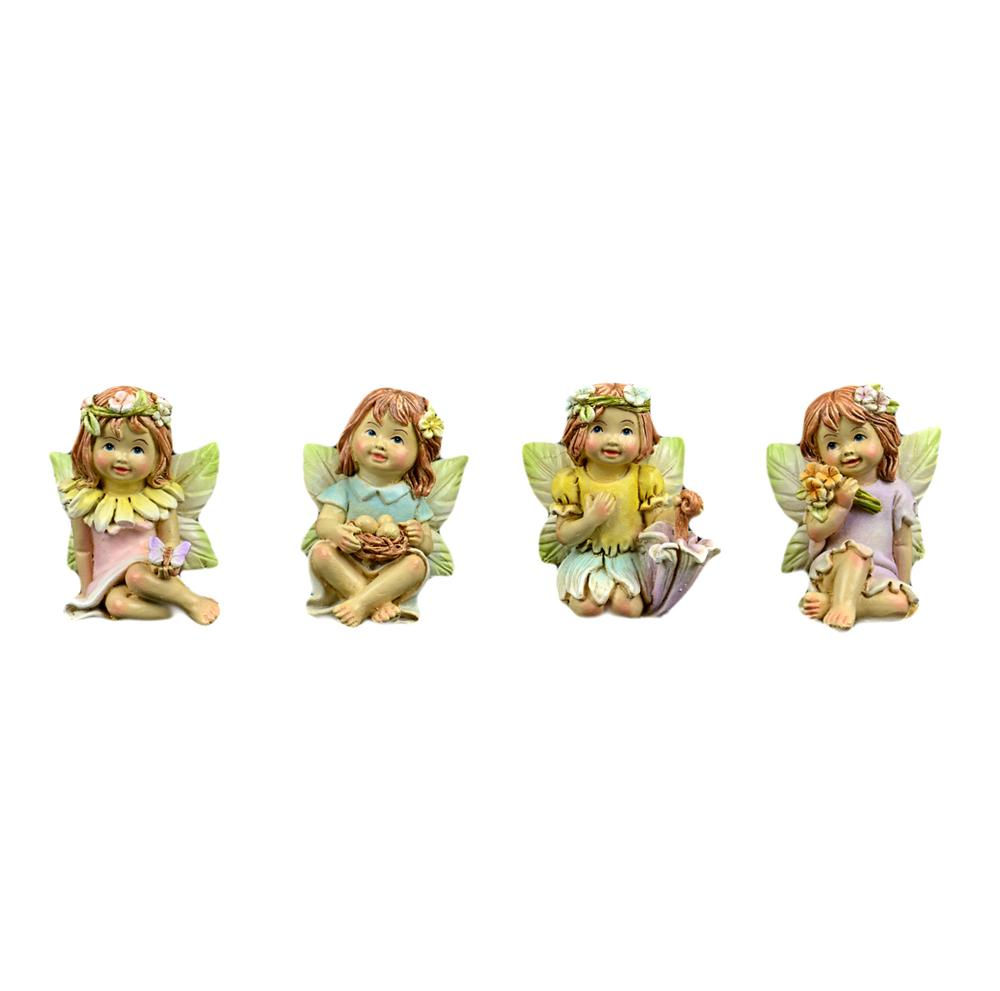 Fairy Garden-Cute Spring Fairies - Set of 4-Fairies-Midwest Design-MyFairyGardens