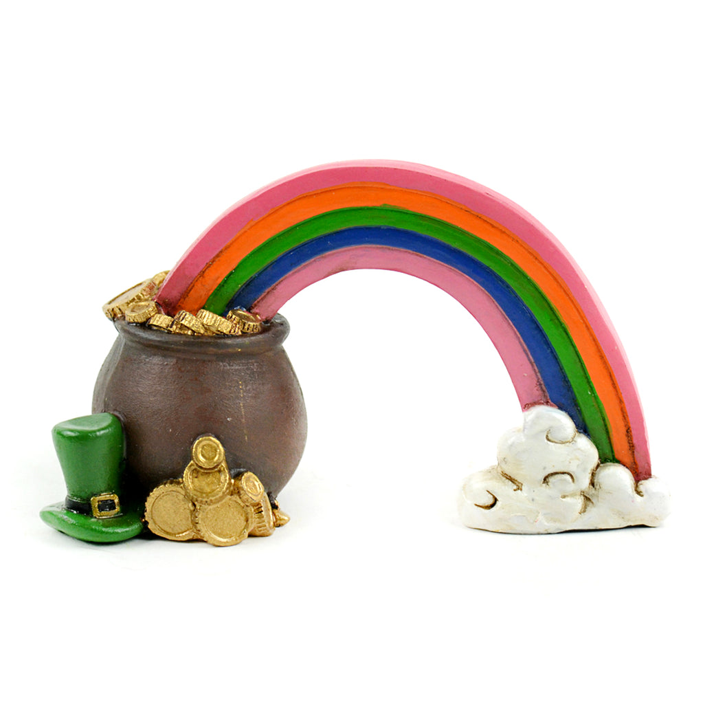 Rainbow and Pot of Gold - MyFairyGardens.com
