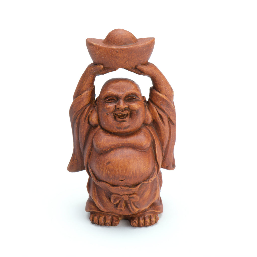 Chinese Prosperity Budda - Wood Finish