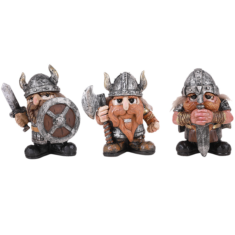 Viking Knights - Set of 3 - MyFairyGardens.com