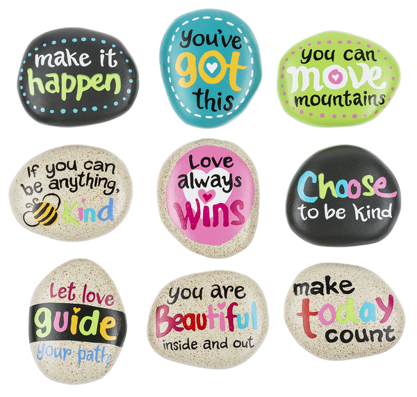 Love Always Wins Stone - MyFairyGardens.com