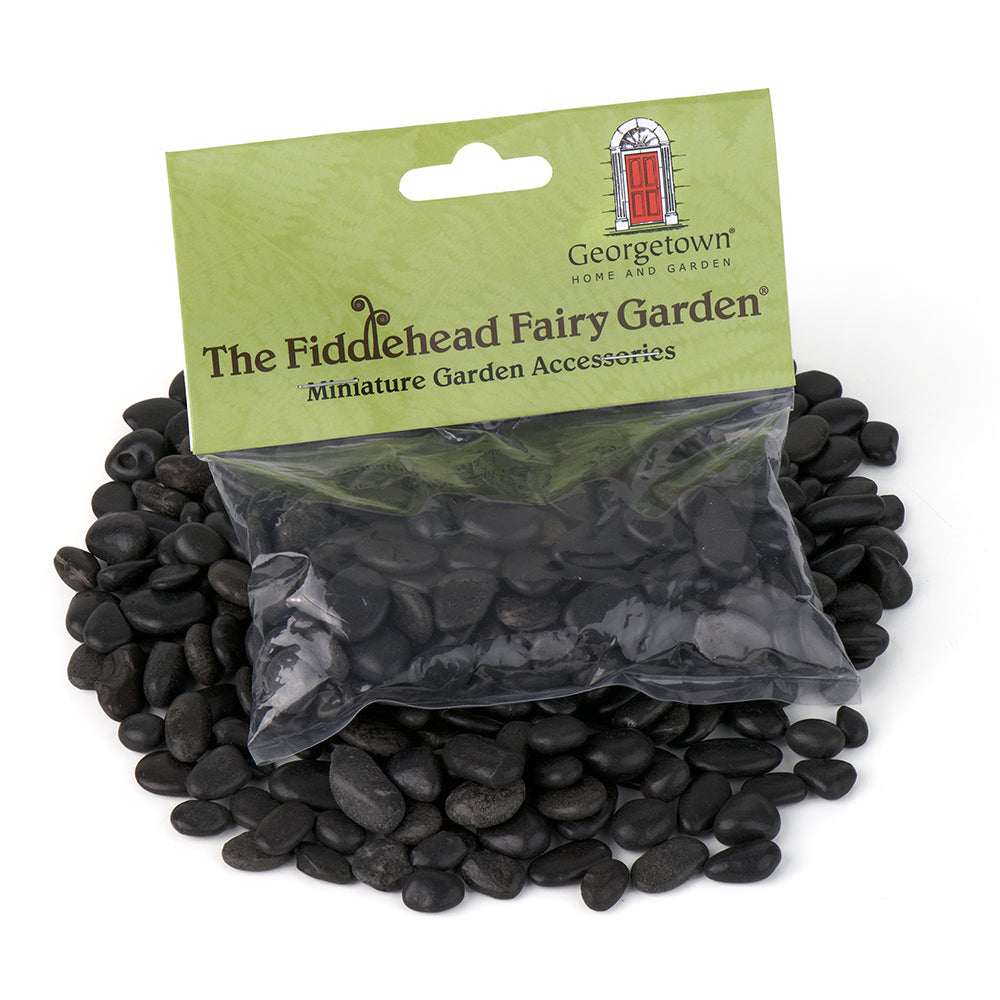 Stones - Black Polished - 8oz. - MyFairyGardens.com