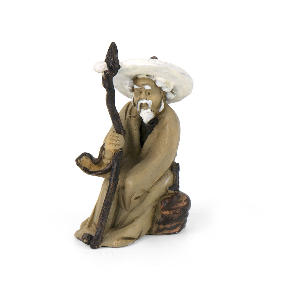 Mud Man With Straw Hat - MyFairyGardens.com