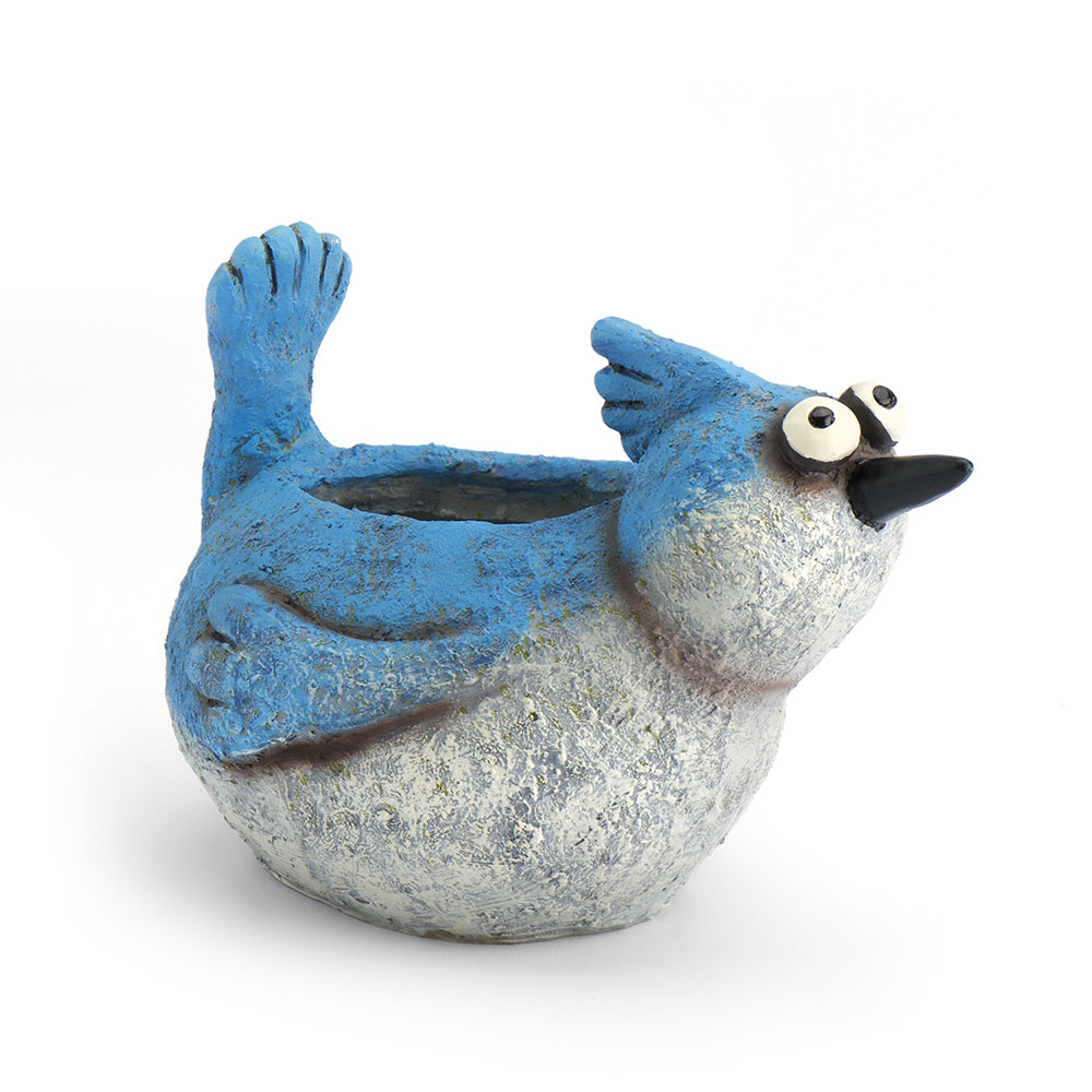 Blue Jay Planter - MyFairyGardens.com