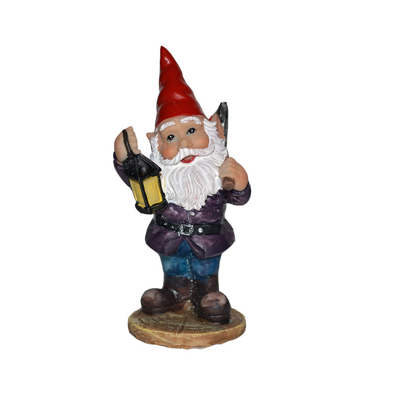 Garden Gnome - Hiking At Night - MyFairyGardens.com