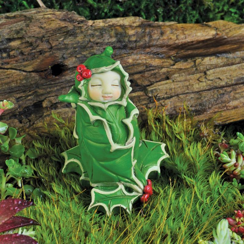 Fairy Baby of the Month - December Holly - MyFairyGardens.com