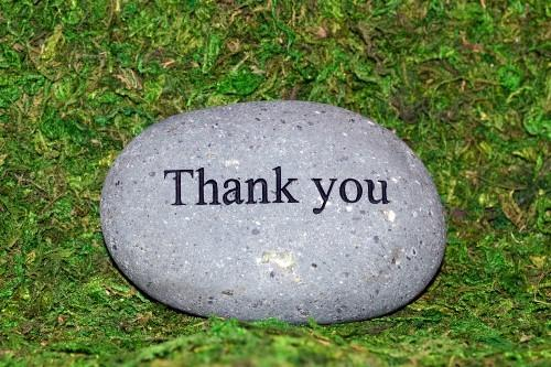 Fairy Stone - Thank You - MyFairyGardens.com