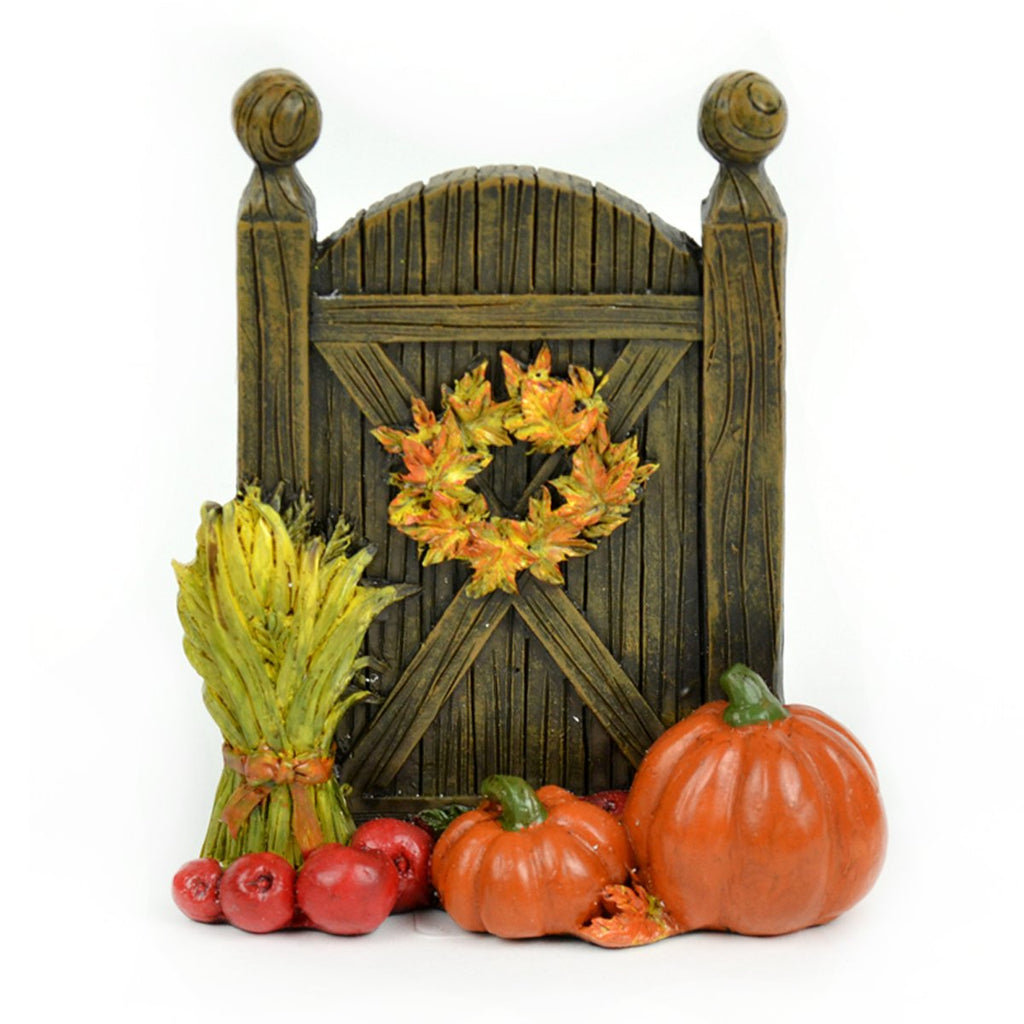 Fall Harvest Fairy Door - MyFairyGardens.com