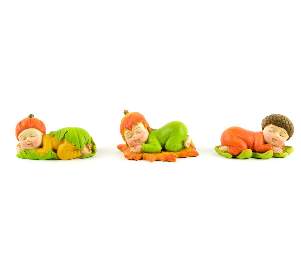 Fall Sleeping Babies - Set of 3 - MyFairyGardens.com
