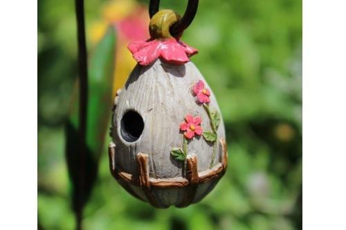 Flowering Birdhouse - MyFairyGardens.com
