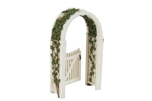 Gated Arbor with Vine - MyFairyGardens.com