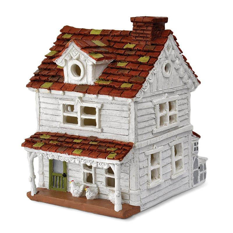 Gingerbread And Chickens Farm House - MyFairyGardens.com