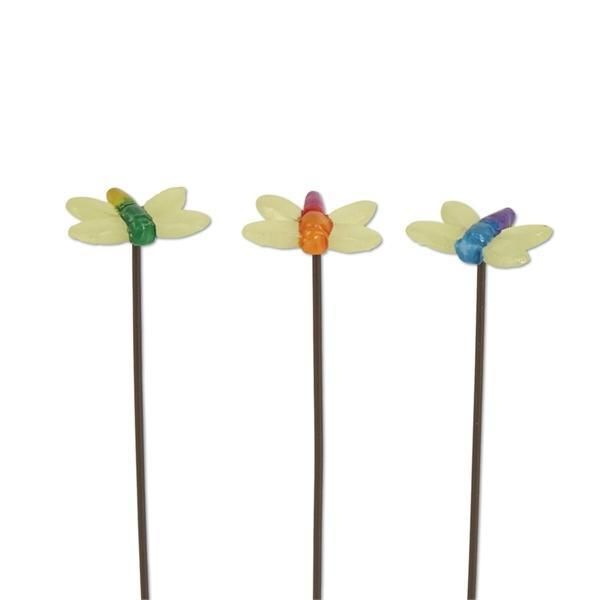 Fairy Garden-Glow Dragonfly Picks - Set of 3-Animals-StudioMSale-MyFairyGardens