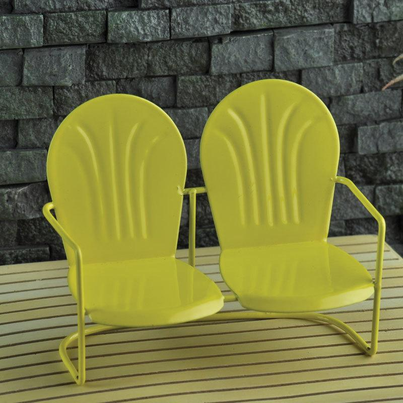 Love Seat Yellow - MyFairyGardens.com