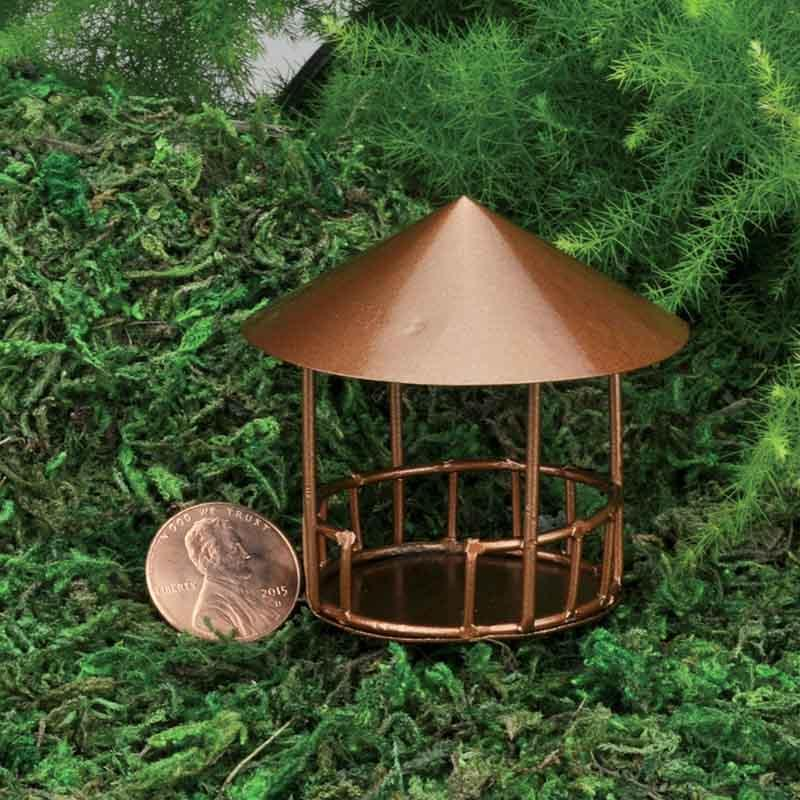 Micro Mini Copper Gazebo - MyFairyGardens.com