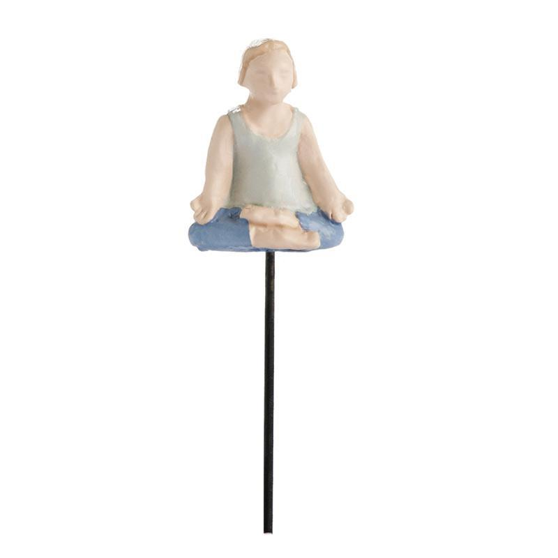 Fairy Garden-Micro Mini Yoga Guy-Themes-MyFairyGardens.com-MyFairyGardens
