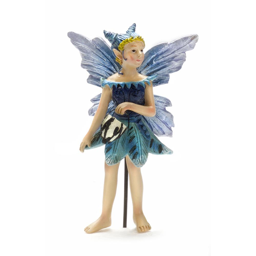 Nia Night Fairy With Glow-In-The-Dark Orb - MyFairyGardens.com