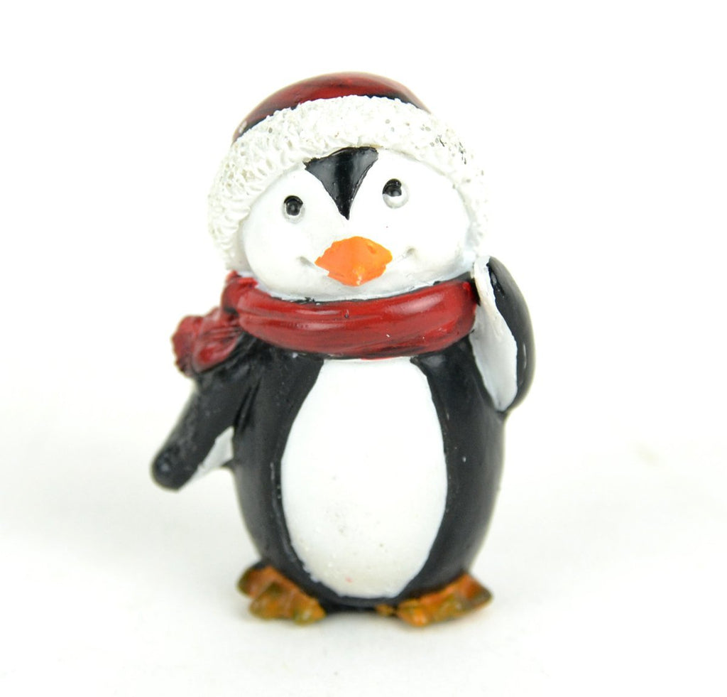 Fairy Garden-Penguin With Scarf-Christmas/Winter-Midwest Design-MyFairyGardens