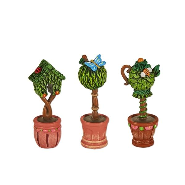 Potted Topiaries - Set of 3 - MyFairyGardens.com