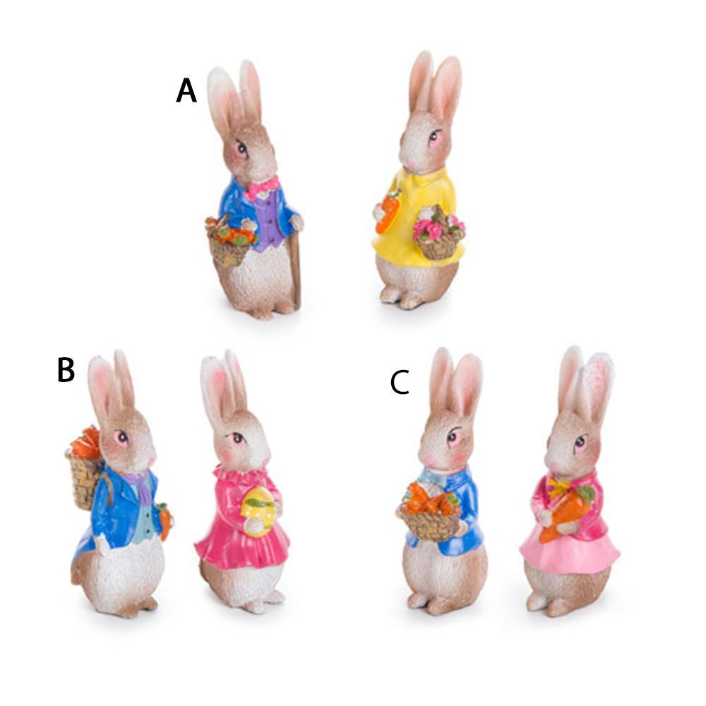 Rabbit Couples - Choose From 3 Different Couples - MyFairyGardens.com