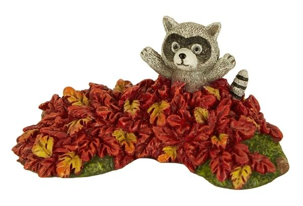 Fairy Garden-Raccoon In Leaves-Animals-Studio M-MyFairyGardens