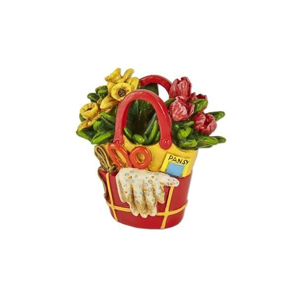 Red Flower Tote - MyFairyGardens.com